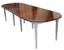 ISABELLE OVAL EXTENSION DINING TABLE