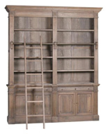 HENRI SINGLE BOOKCASE WITH LADDER