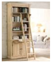HENRI SMALL DOUBLE BOOKCASE WITH LADDER